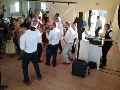 Early Spring Wedding Dancing while DJ Chris Bouchard mixes it up