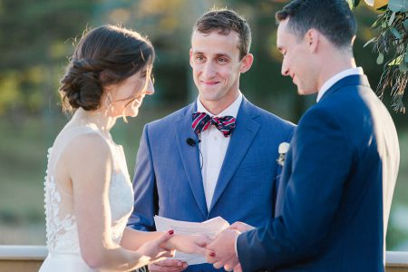 Wedding Ceremony at Falmouth Country Club; photo courtesy of Natalya DeSena