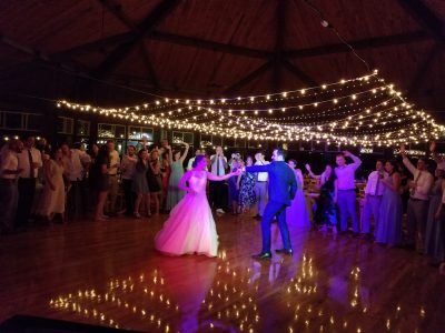 Wedding first dance, Camp Mataponi, Sebago Maine
